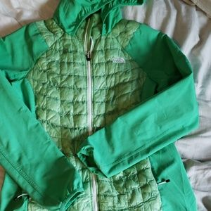 Green northface coat